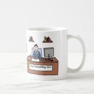Personalized cartoon mug w company name