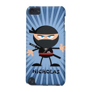 Personalized Cartoon Ninja on Blue Starburst iPod Touch 5G Case