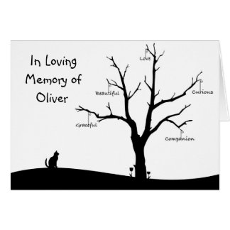 Personalized Cat Bereavement Sympathy Card