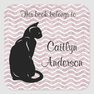 Personalized Cat Bookplate Sticker