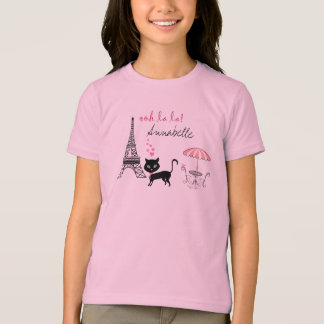 Personalized Cat Paris T-Shirt