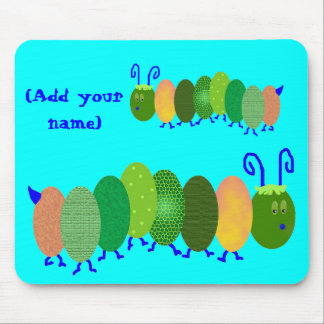Personalized Caterpiller Mouse Pad