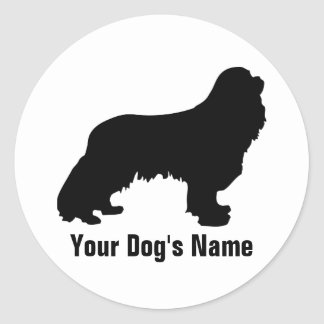 Personalized Cavalier King Charles Spaniel キャバリア Round Sticker