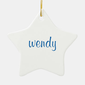 Personalized Ceramic Holiday Name Ornament