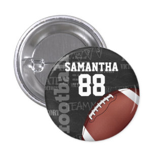 Personalized Chalkboard American Football 3 Cm Round Badge