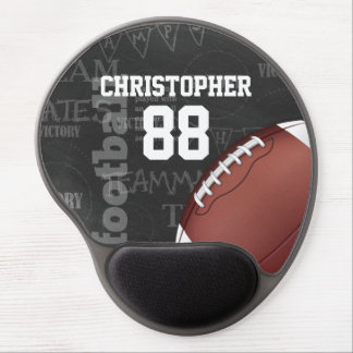 Personalized Chalkboard American Football Gel Mouse Pad