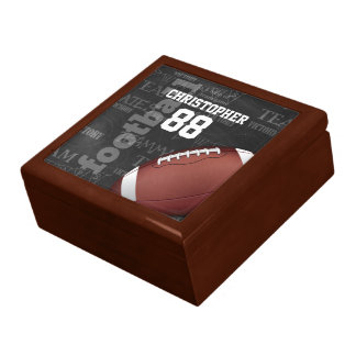 Personalized Chalkboard American Football Large Square Gift Box