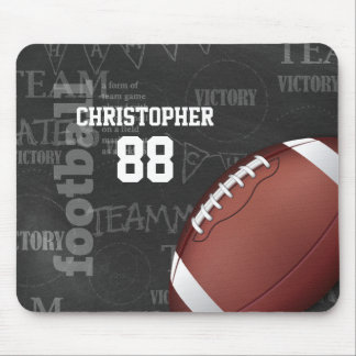 Personalized Chalkboard American Football Mouse Pad