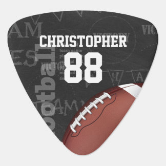 Personalized Chalkboard American Football Plectrum