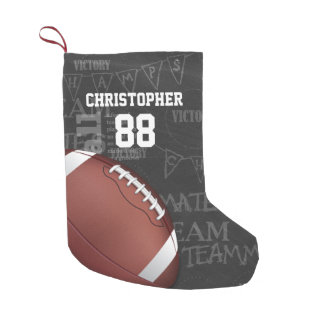 Personalized Chalkboard American Football Small Christmas Stocking