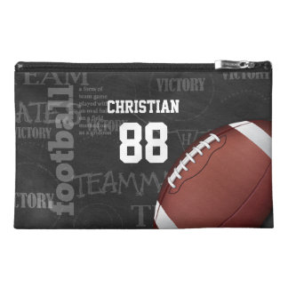 Personalized Chalkboard American Football Travel Accessory Bag