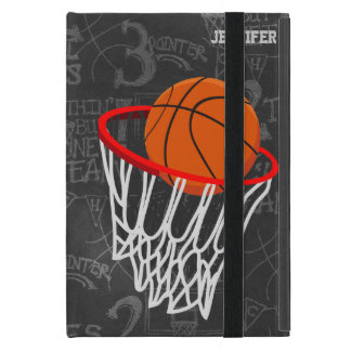 Personalized Chalkboard Basketball and Hoop iPad Mini Cover