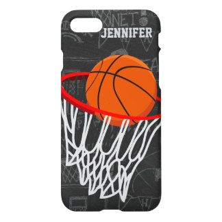 Personalized Chalkboard Basketball and Hoop iPhone 7 Case