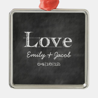 Personalized Chalkboard Love Wedding Ornament