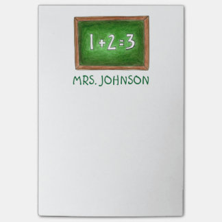 Personalized Chalkboard School Teacher Post Its Post-it Notes