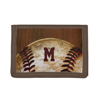 Personalized Cheap Baseball Team Gifts Trifold Wallets