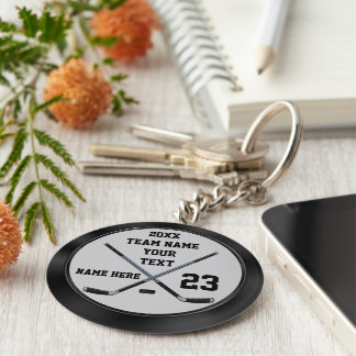 Personalized Cheap Hockey Gifts and Hockey Favors Key Ring