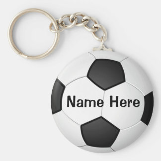 Personalized Cheap Soccer Gifts for Girls & Boys Basic Round Button Key Ring