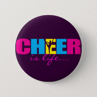 Personalized Cheer Cheerleading Purple 6 Cm Round Badge