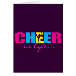 Personalized Cheer Cheerleading Purple Card