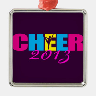 Personalized Cheer Cheerleading Purple Christmas Ornament