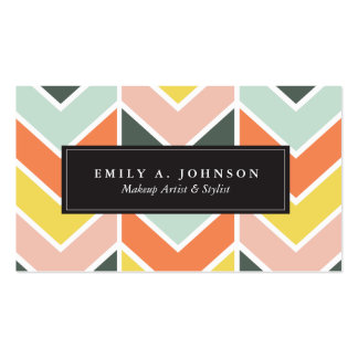 Personalized | Cheerful Chevron by Origami Prints Business Card