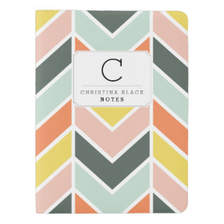 Personalized | Cheerful Chevron Extra Large Moleskine Notebook