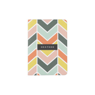 Personalized | Cheerful Chevron Passport Holder