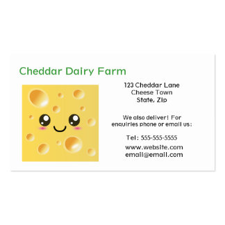 Personalized Cheese Dairy Farm Business Cards