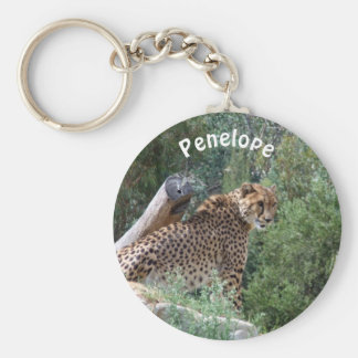 Personalized Cheetah Keyring