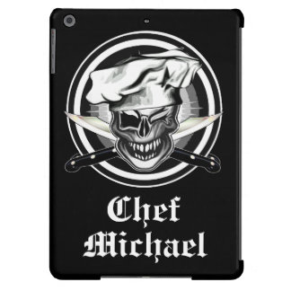 Personalized Chef Skull iPad Barely There Case iPad Air Cases