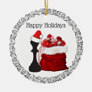 Personalized Chess King Santa Holiday Christmas Christmas Ornament