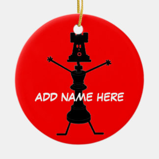 Personalized Chess Player Christmas Ornament