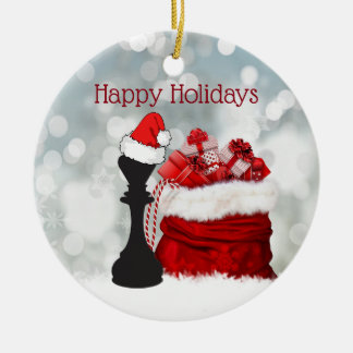 Personalized Chess Winter Snow Santa Christmas Christmas Ornament