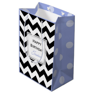 Personalized: Chevron And Polka Dots Gift Bags 4