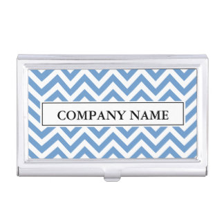 Personalized chevron pattern business card holder