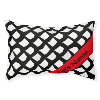 Personalized Chic Black and White Pattern Pet Bed