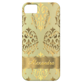 Personalized chic elegant golden damask case for the iPhone 5