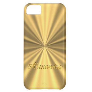 Personalized chic elegant golden iPhone 5C case