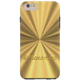 Personalized chic elegant golden tough iPhone 6 plus case