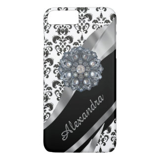 Personalized chic girly vintage damask iPhone 8 plus/7 plus case