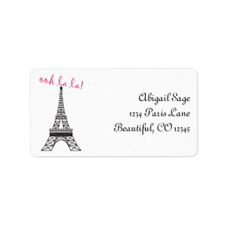 Personalized Chic Paris Eiffel Tower Address Label