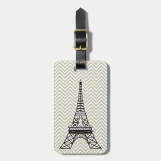 Personalized Chic Paris Eiffel Tower Luggage Tag