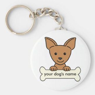 Personalized Chihuahua Key Ring