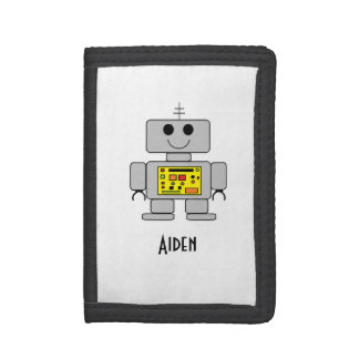 """Personalized Children's Robot Wallet"" Tri-fold Wallets"