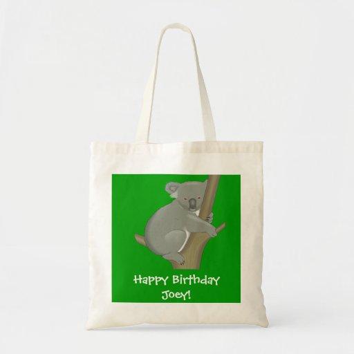 Personalized Child's Koala Bag Canvas Bag