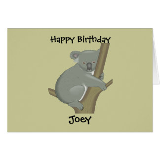 Personalized Child's Koala Birthday Card