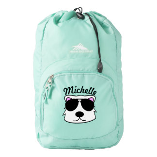 Personalized Chill Bear Backpack