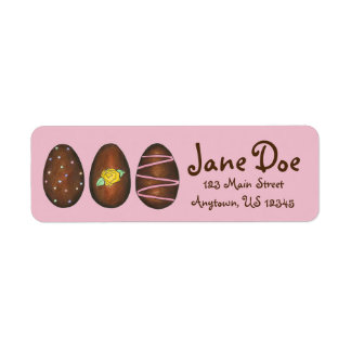 Personalized Chocolate Easter Egg Candy Labels