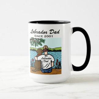 Personalized Chocolate Labrador and Dad 2 Mug